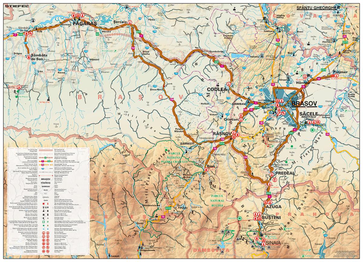 Harta Regionala Predeal